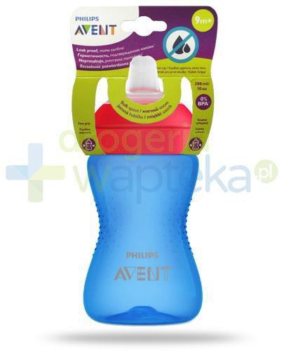 Avent Philips My Grippy kubek niebieski 300 ml z miękkim, odpornym na gryzienie ustnikiem dla dzieci 9m+ [SCF802/01]