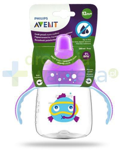 Avent Philips kubek fioletowy z twardym ustnikiem 260 ml dla dzieci 12m+ [SCF753/06]