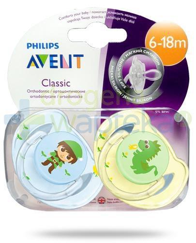 Avent Philips Classic smoczek silikonowy ortodontyczny dla dzieci 6-18m 2 sztuki [SC...