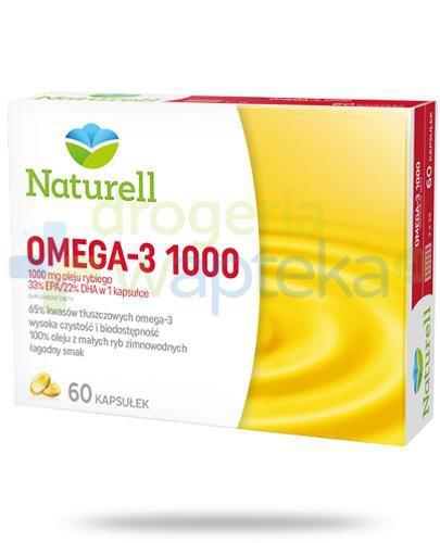 Naturell Omega-3 1000 60 kapsułek + poradnik Zdrowego Serca [GRATIS]