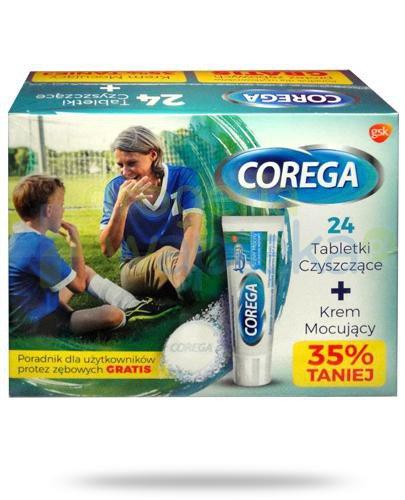 Corega Tabs Bio Formula tabletki do czyszczenia protez zębowych 24 sztuki + Corega Super ...