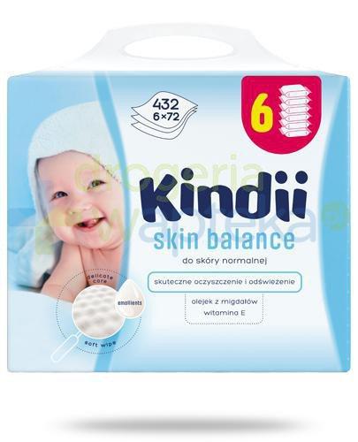 Kindii Skin Balance nawilżane chusteczki z olejkiem z migdałów i witaminą E do skóry ...