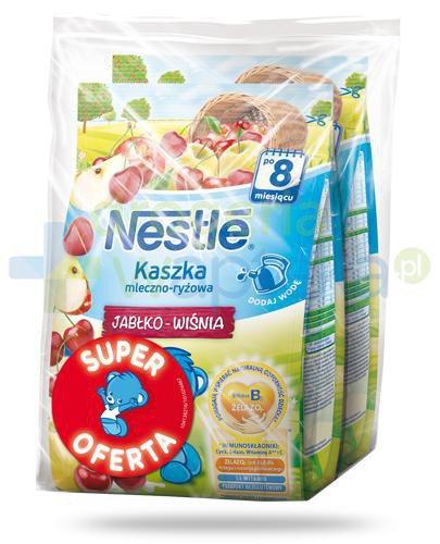 Kaszka mleczno-ryżowa Nestlé jabłko wiśnia po 8 miesiącu 2x 230 g [DWUPAK] [Data waż...