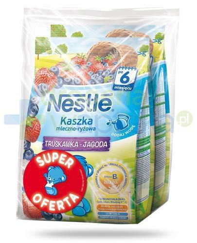 Kaszka mleczno-ryżowa Nestlé truskawka jagoda po 6 miesiącu 2x 230 g [DWUPAK]