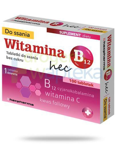 Witamina B12 Hec 100 tabletek do ssania   whited-out