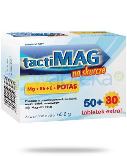TactiMag na skurcze 50 tabletek + 30 tabletek