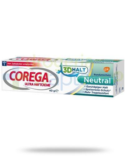 Corega Ultra Neutral krem mocujący do protez 40 g