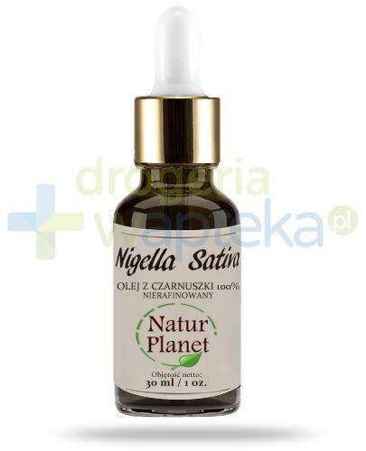 Natur Planet Nigella Sativa 100% olej z czarnuszki nierafinowany, płyn 30 ml