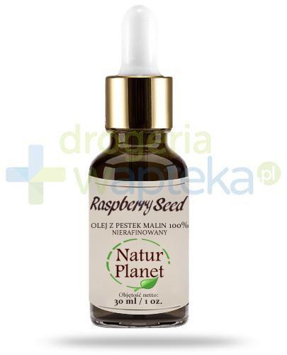 Natur Planet Raspberry Seed 100% olej z pestek malin nierafinowany, płyn 30 ml