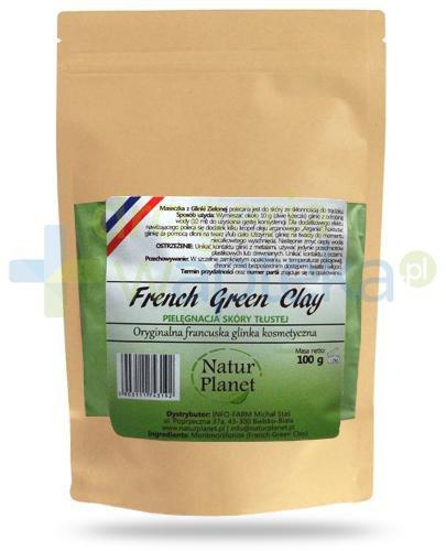 Natur Planet French Green Clay francuska zielona glinka kosmetyczna do skóry tłustej, pr...