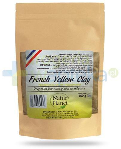 Natur Planet French Yellow Clay francuska żółta glinka kosmetyczna do skóry trądzikow...