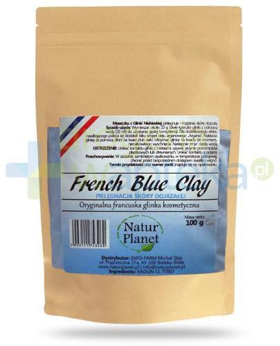 Natur Planet French Blue Clay francuska niebieska glinka kosmetyczna do skóry dojrzałe...