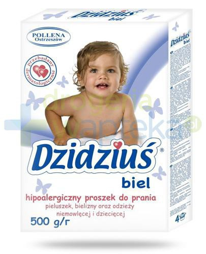 Dzidziuś Biel hipoalergiczny proszek do prania 500 g  whited-out