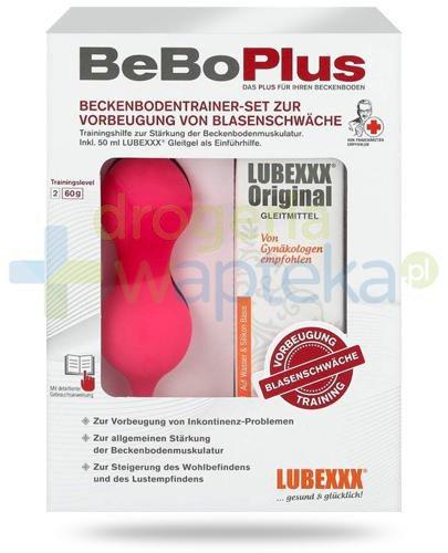 Lubexxx BeBo Plus, Lubexxx Original Lubrykant żel nawilżający 50 ml + ciężarek dopochwowy 60 g [ZESTAW]