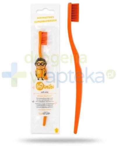 Biobrush szczoteczka do zębów BIO dla dzieci miękka pomarańczaowa 1 sztuka