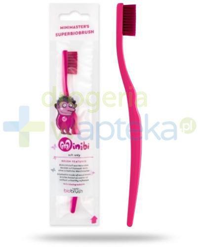 Biobrush szczoteczka do zębów BIO dla dzieci miękka purpurowa 1 sztuka