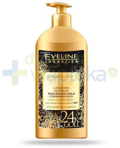 Eveline Luxury Expert 24k Gold luksusowe odżywcze mleczko do ciała z drobinkami złot...