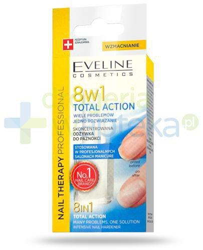 Eveline Nail Therapy Total Action 8w1 skoncentrowana odżywka do paznokci 12 ml