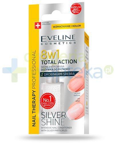 Eveline Nail Therapy Total Action Silver Shine 8w1 skoncentrowana odżywka do paznokci 12 ...