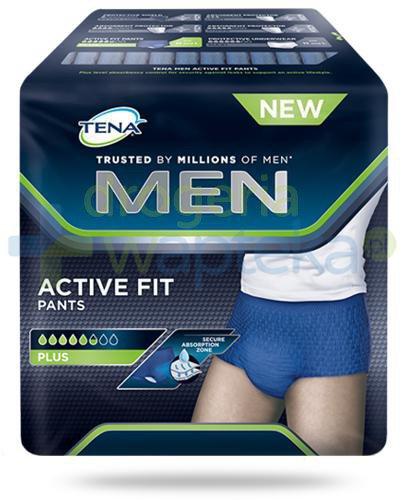 Tena Men Active Fit Pants Plus męskie majtki chłonne rozmiar L 8 sztuk