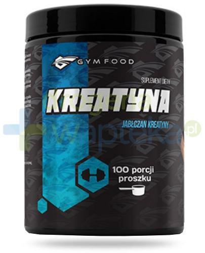 Gym Food Kreatyna jabłczan kreatyny proszek 500 g  whited-out