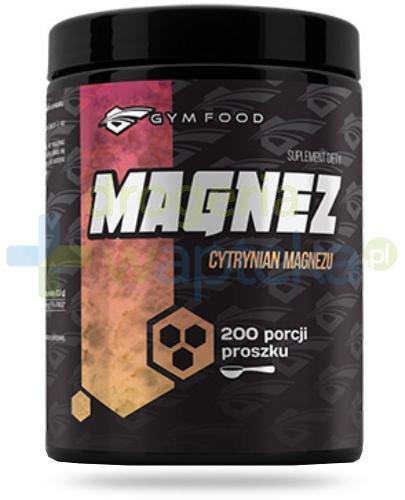Gym Food Magnez cytrynian magnezu proszek 500 g  whited-out
