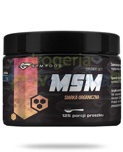 Gym Food MSM siarka organiczna proszek 250 g  whited-out