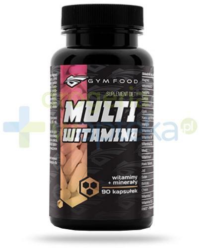 Gym Food Multiwitamina witaminy + minerały 90 kapsułek  whited-out