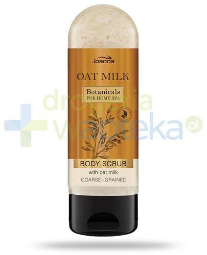 Joanna Botanicals Oat Milk Body Scrub, gruboziarnisty peeling do ciała z mleczkiem owsian...