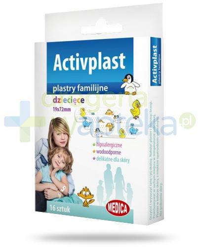 Activplast plastry familijne dziecięce, plastry z nadrukiem 16 sztuk  whited-out