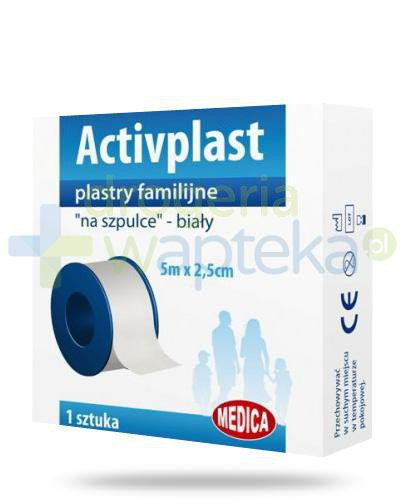 Activplast plastry familijne na szpulce, plaster do cięcia 5m x 2,5cm