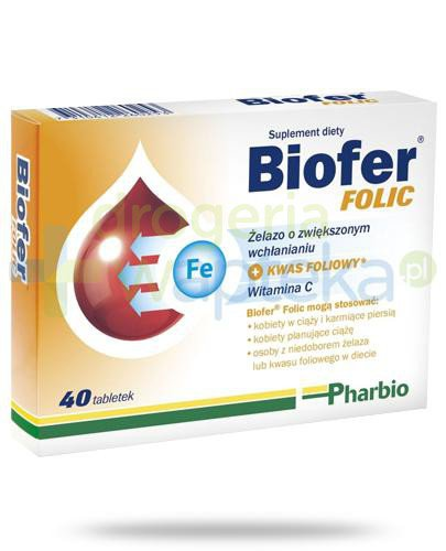 Biofer Folic 40 tabletek  whited-out