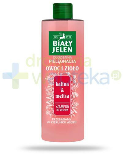 Biały Jeleń Owoc i Zioło szampon do włosów kalina & melisa 400 ml