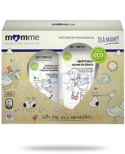 MomMe delikatny żel do mycia ciała i higieny intymnej 150 ml + ujędrniające serum do b...