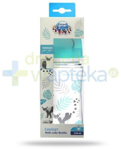 Canpol Babies EasyStart Jungle butelka szerokootworowa antykolkowa dla dzieci 3m+ 240 m...