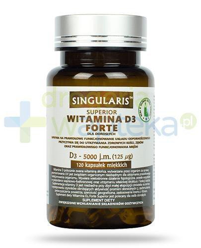 Singularis Superior witamina D3 Forte 5000 dla dorosłych 120 kapsułek