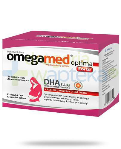 Omegamed Optima Forte DHA z ALG dla kobiet w ciąży i karmiących 120 kapsułek