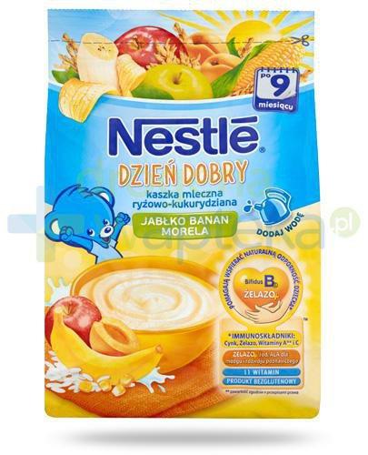 Kaszka Nestlé Dzień dobry ryżowo-kukurydziana jabłko, banan i morela po 9 miesiącu 23...