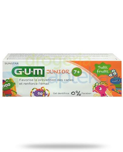 GUM Junior Monster Tutti Frutti pasta do zebów dla dzieci 7+ 50 ml