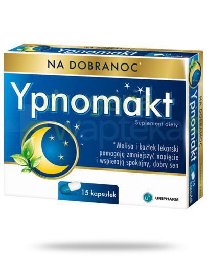 Ypnomakt na dobranoc 15 kapsułek