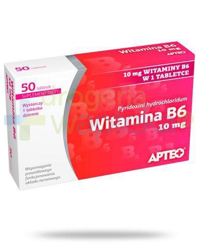 Apteo witamina B6 10mg 50 tabletek