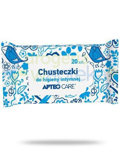 Apteo Care chusteczki do higieny intymnej 20 sztuk  whited-out