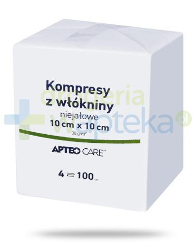 Apteo Care niejałowe kompresy z włókniny 10cm x 10cm 100 sztuk