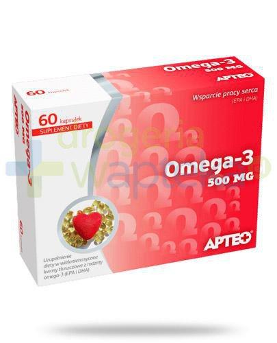 Apteo Omega-3 500mg 60 kapsułek