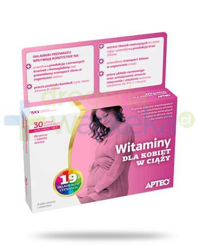 Apteo witaminy dla kobiet w ciąży 30 tabletek