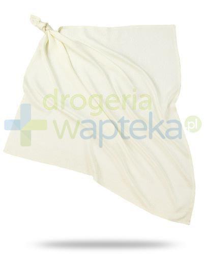 Bamboo-line Silver Glow Diamond pieluszka żakardowa ze srebrem, kolor ecru, 75 x 75cm