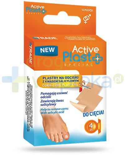 Active Plast Special plastry na odciski z kwasem salicylowym do cięcia 4 sztuki