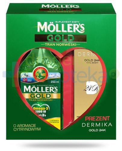 Mollers Gold Tran Norweski Omega-3 2000UI smak cytrynowy 250 ml [Data ważnośc...
