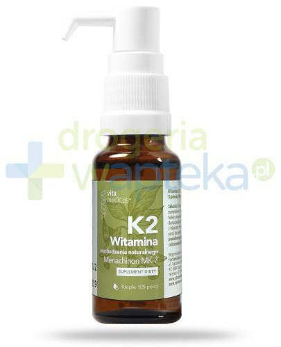 VitaMedicus witamina K2 Mk-7, krople 14,7 ml  whited-out