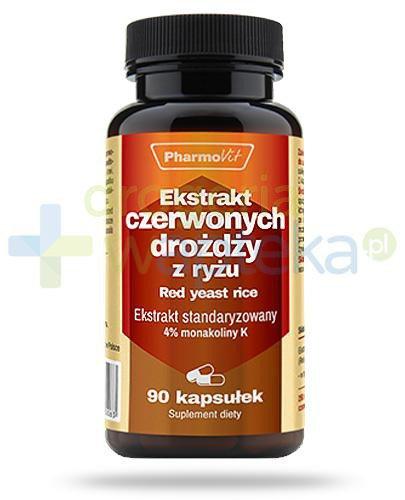 Ekstrakt czerwonych drożdży z ryżu 4% monakoiny K 90 kapsułek PharmoVit
